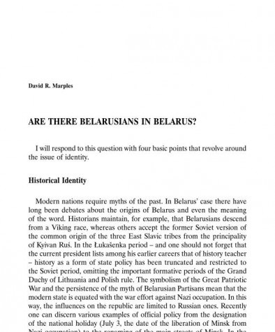 Are There Belarusians in Belarus?