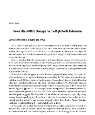 How Cultural NGOs Struggle for the Right to Be Belarusian